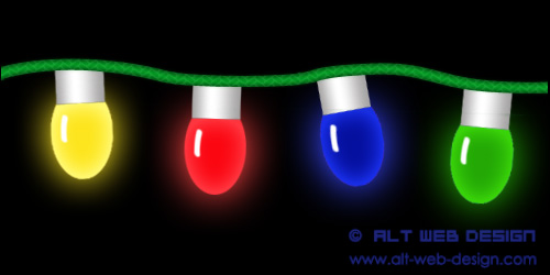 CHRISTMAS LIGHTS   ALT Web Design & Photoshop Tutorials