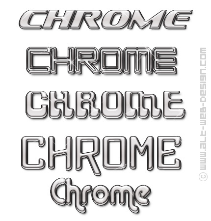Chrome Font - applied texture