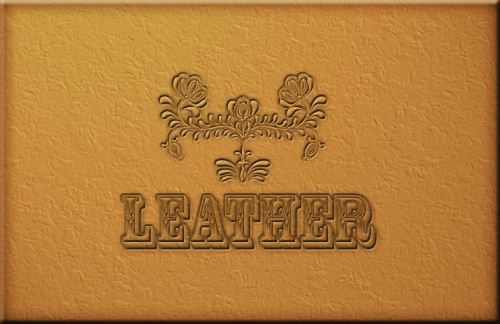 Leather Texture - applied texture